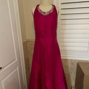 Eliza J Formal Prom Pink Dress Halter Floor